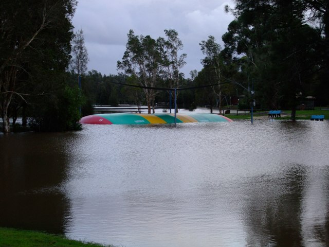 Jumping Pillow Flood Tuncurry Lakes Resort